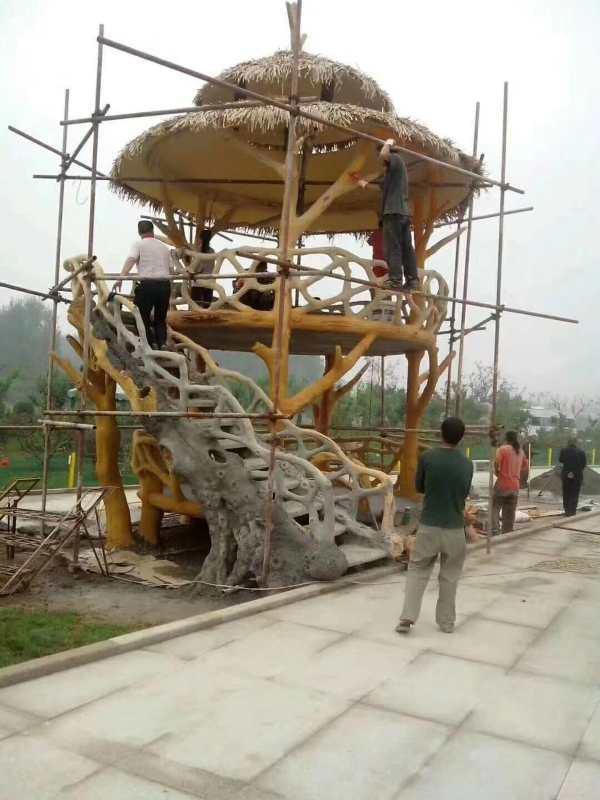 西安水泥仿木景观造型