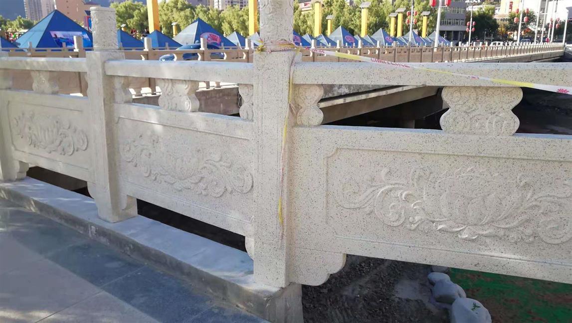 西安市浐灞生态区思畅装饰工程部-安塞延河GRC仿石材护栏