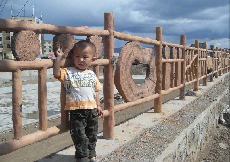 西安水泥仿木栏杆