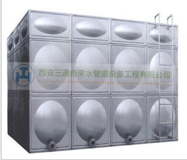 陕西自来水管道工程—三通不锈钢水箱