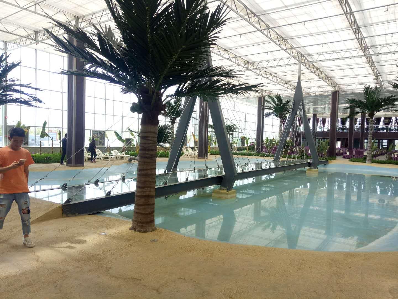 西安宏景温室安装生态餐厅施工场地