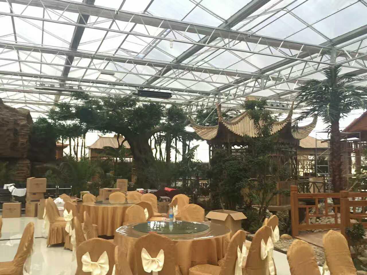 刘总餐厅施工完后的产品展示