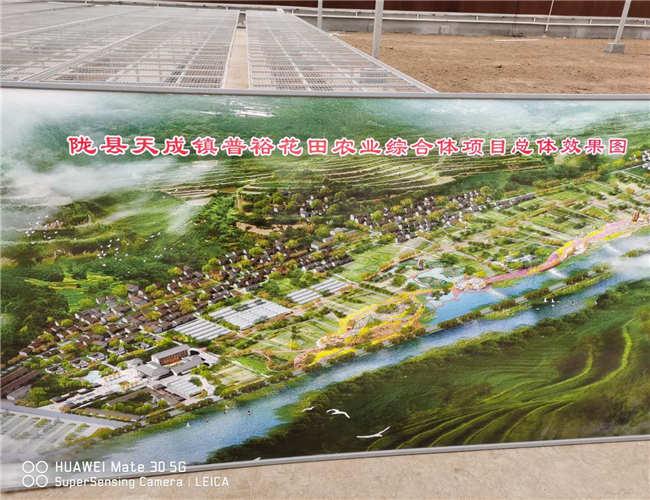 陇县天成镇普裕花田农业综合项目重要节点效果图