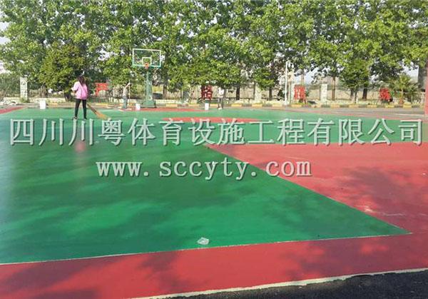四川硅pu球場材料合作案例
