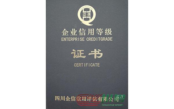 企業信用等級證書