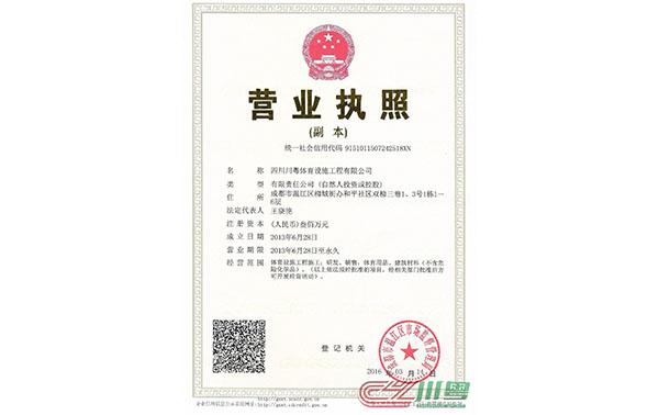 四川川粤体育营业执照