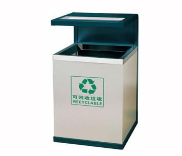钢制单筒垃圾桶