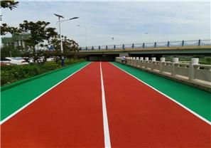 陕西商洛高新区高新公园EPDM绿道