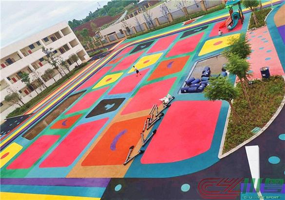 仁寿县富加镇中心幼儿园及第二小学项目(透气型跑道和EPDM球场)