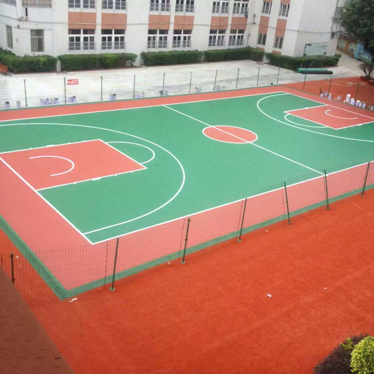 四川硅pu籃球場如何分區施工