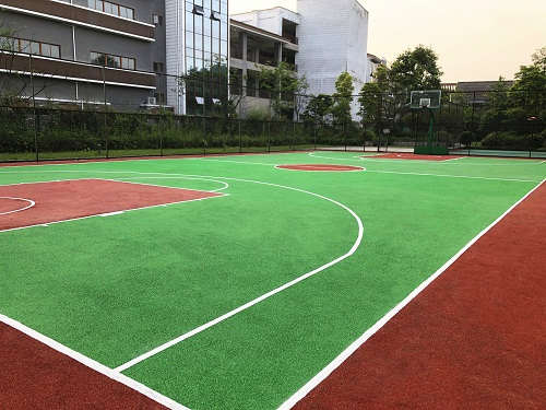 都江堰泓坊河畔小区EPDM篮球场项目