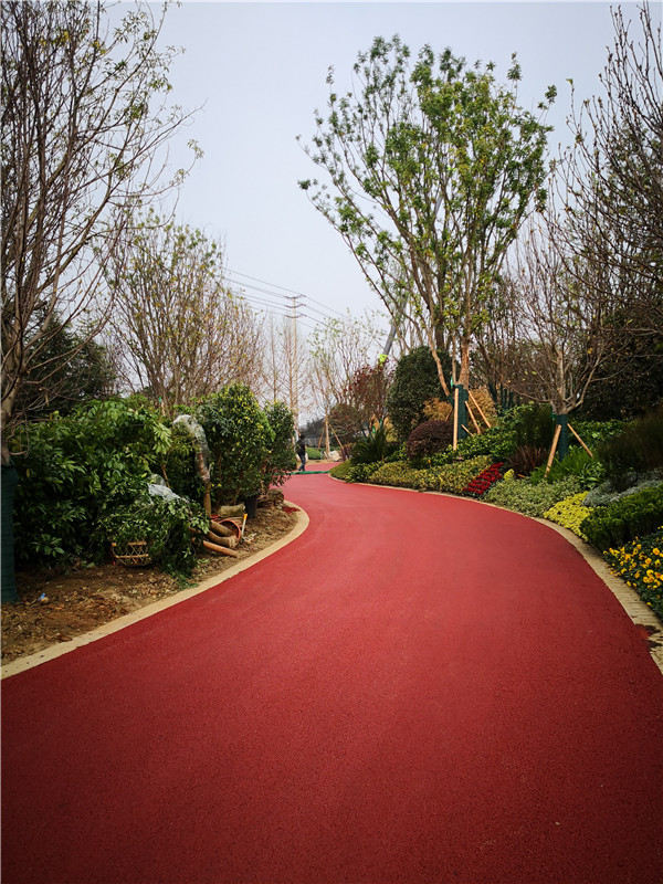 恒大翡翠龙庭彩色道路