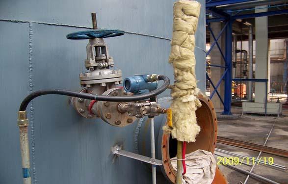 西安单法兰液位计案例 济南钢厂