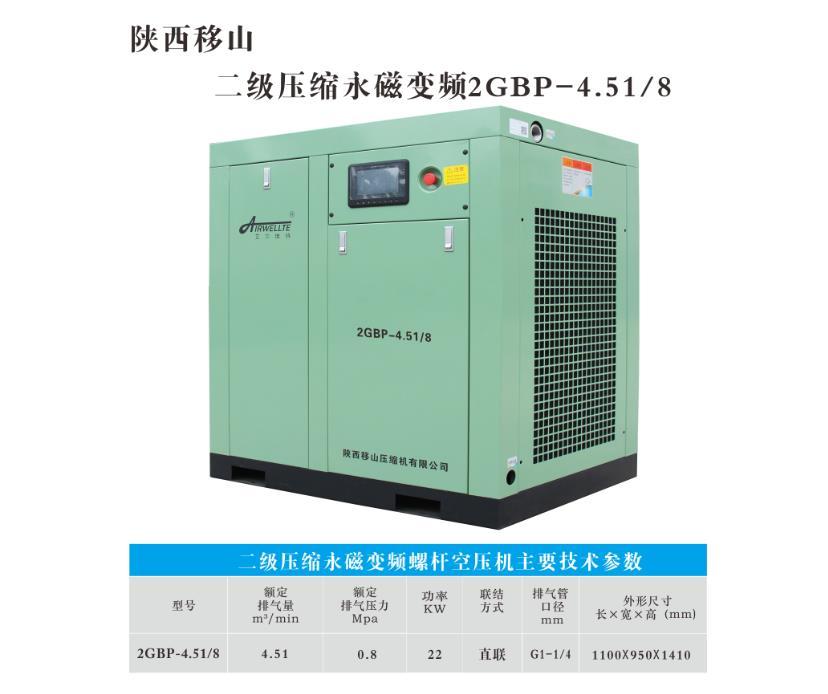 二级压缩永磁变频螺杆空压机2GBP-4.51/8