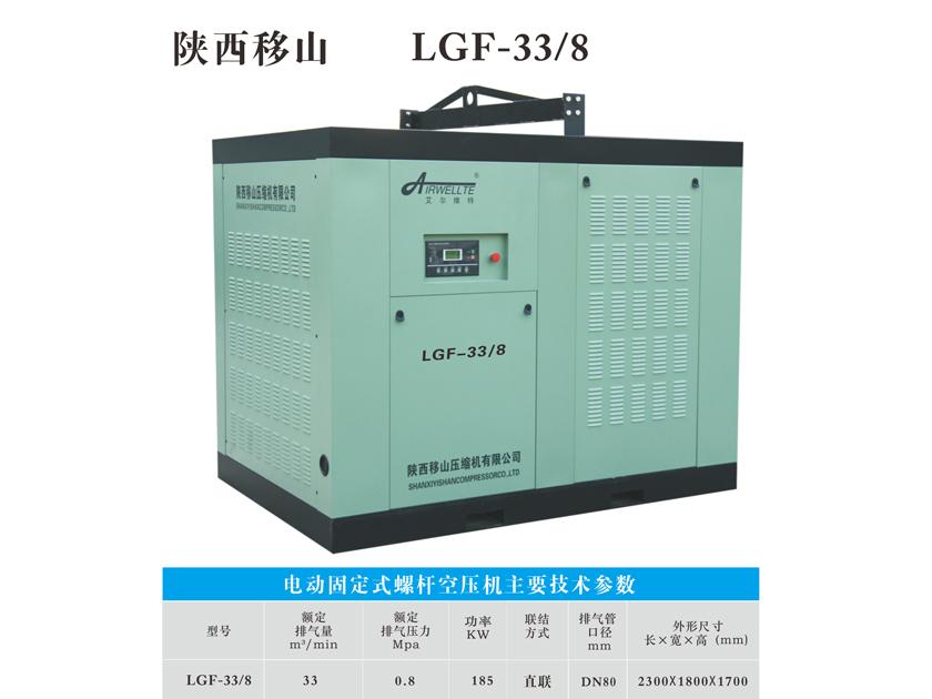 电动固定式螺旋杆空压机LGF-33/8