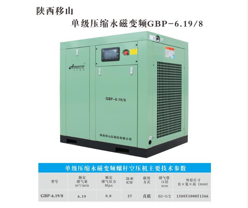 单级压缩永磁变频螺杆空压机GBP-6.19/8