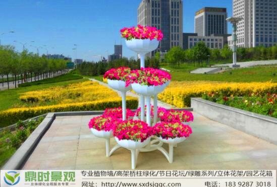 陕西立体绿化-立体花架
