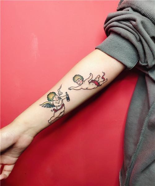 武汉原创纹身培训作品-小天使