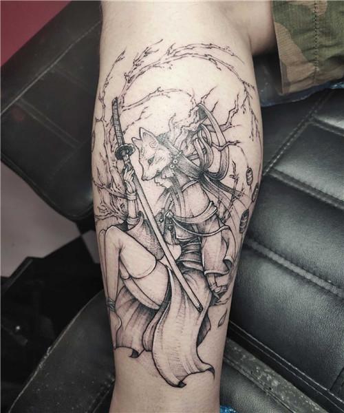纹身作品-狐狸妖