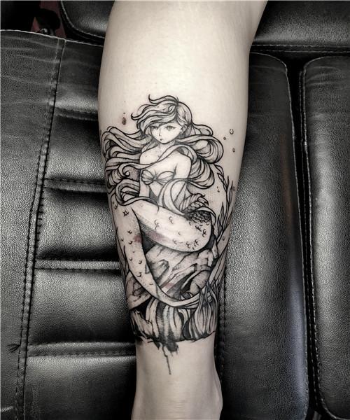 武汉原创纹身-美人鱼
