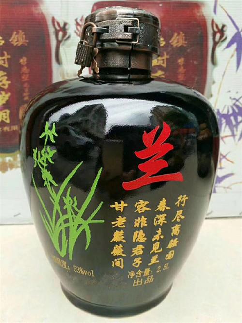 陕西浓香型白酒---凤蘭王系列-52度浓头酱尾
