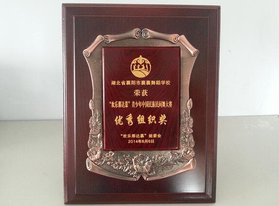 """襄阳中国舞培训获得""""优秀组织奖"""""""