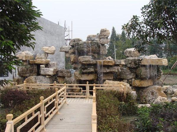 成都龟纹石假山案例