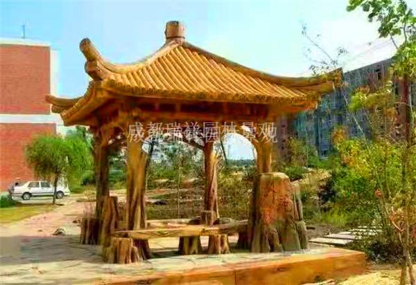 塑石仿木栏杆制作