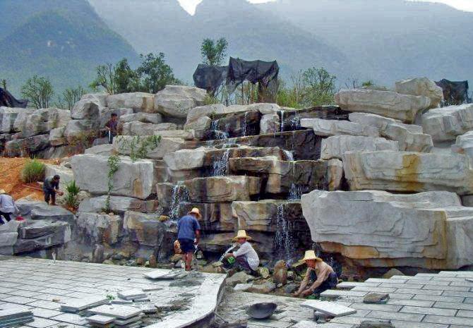 成都塑石假山制作