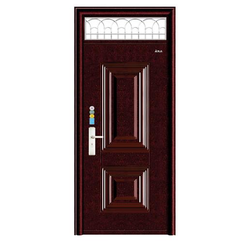 枣红油漆-新疆防盗门