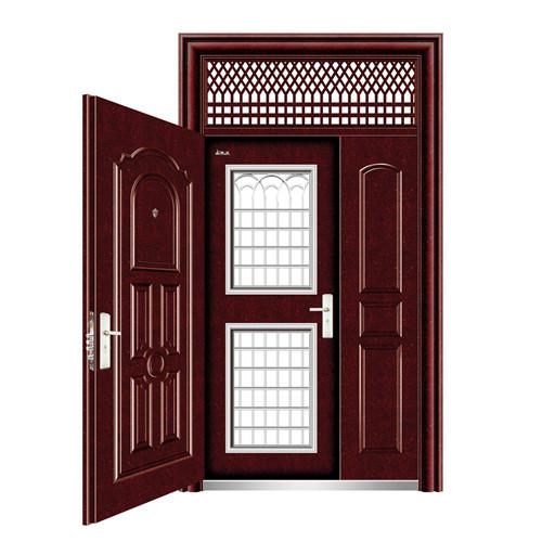 板式带窗新疆防盗门