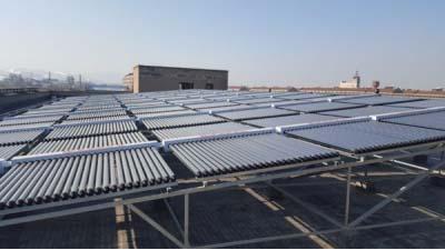 淄博飞狮巾被公司平板太阳能整体安装项目