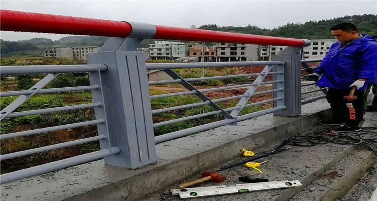 安平某桥梁防撞护栏安装案例