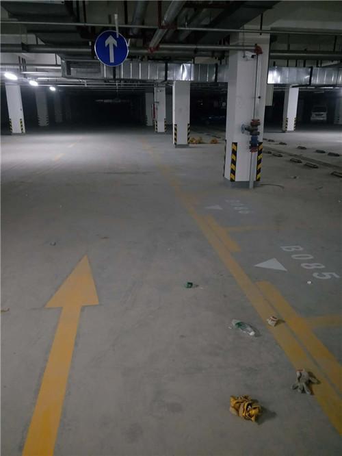 停车场热熔划线