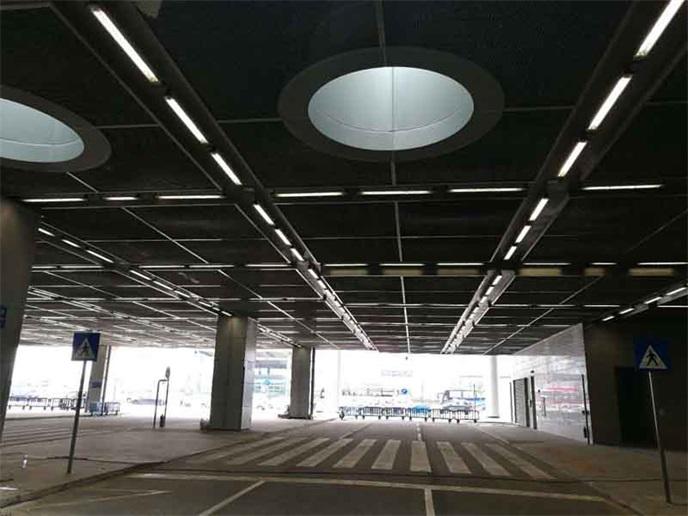 LED四川三防燈安裝澳門停車場工程案例