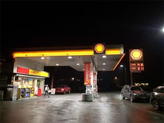德國LED加油站燈工程案例