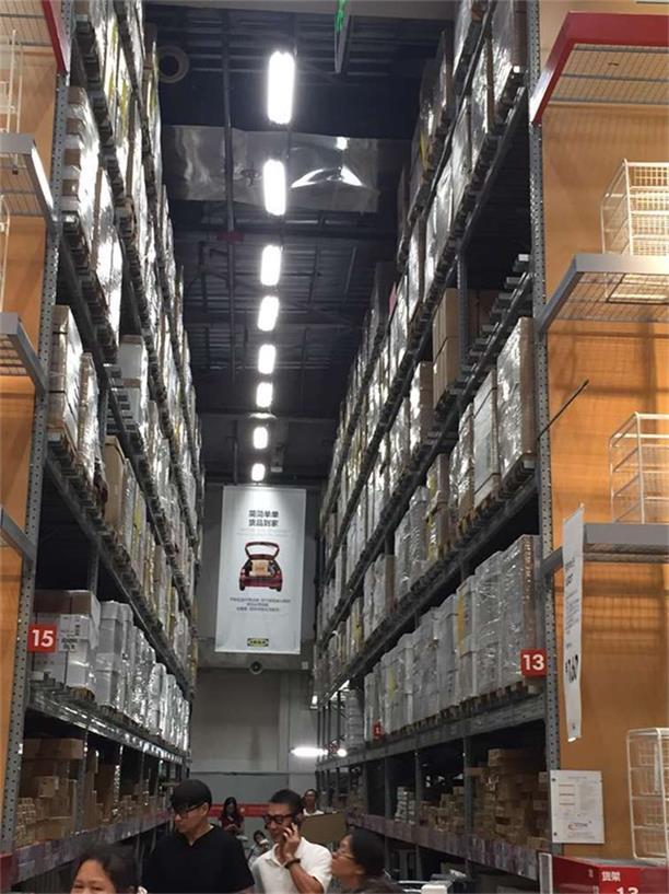 鹽田港線性LED四川倉庫燈工程案例