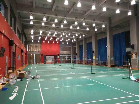 北京市海澱區體育館羽毛球場館LED燈工程案例