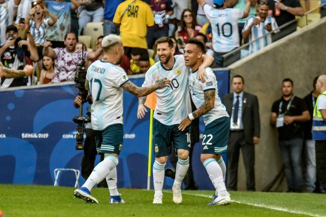 阿根廷隊2比0戰勝委內瑞拉隊晉級美洲杯四強