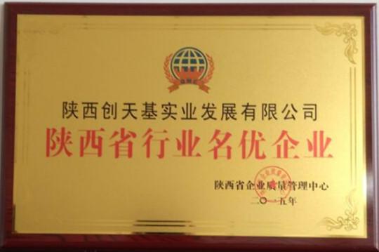 公司被授予陕西省行业名优企业