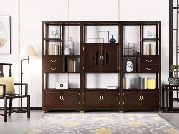 西安实木家具组合书柜