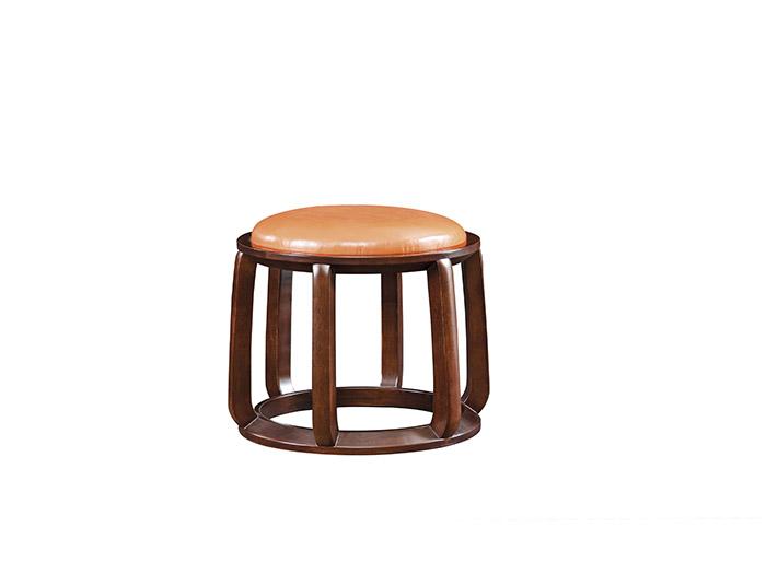 实木新中式妆凳