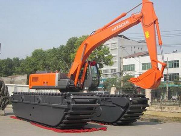 山东水陆两用挖机租赁--200大型挖机