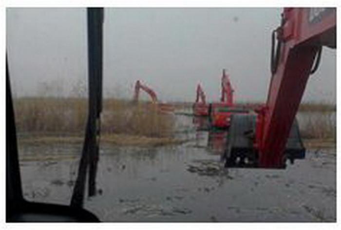 湖南水陆两用挖机出租