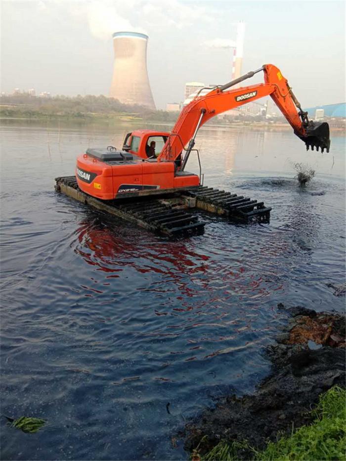 山东水陆两用挖机施工图