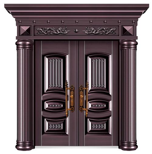 高檔別墅門銷售-HF-8003 真紫銅