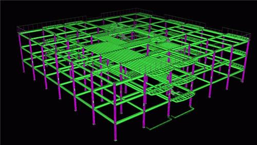 陕西钢结构工程-tekla建模6