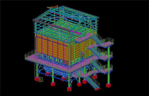陕西钢结构工程-tekla建模3