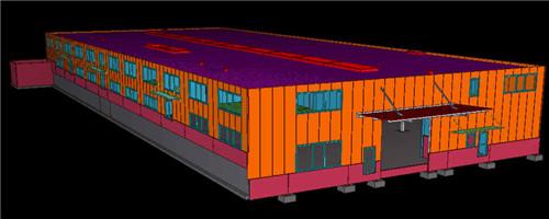 陕西钢结构工程-tekla建模8