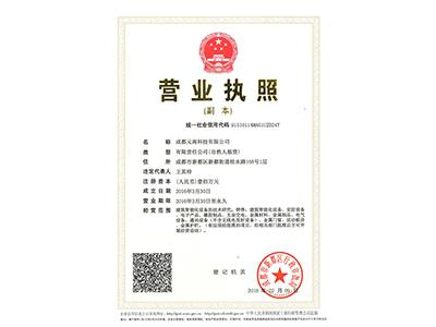 成都元南科技有限公司營業執照